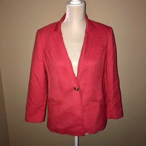 The Limited | Coral One Button Blazer